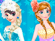 Play Elsa vs Anna Make Up Contest