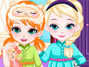 Play Frozen Baby Sisters Bedtime