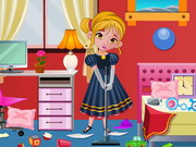 Play Frozen Anna Bedroom Cleaning