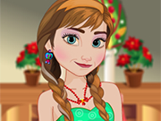 Play Frozen Anna Christmas Dress up