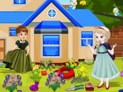 Play Frozen Babies Garden Cleaning