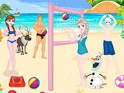 Play Frozen Beach Volleyball Decoration