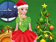 Play Frozen Elsa Christmas Dress Up