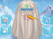 Play Frozen Elsa Feather Chain Braids