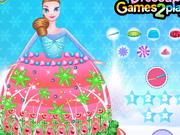 Play Frozen Princess Gown Cake Decor