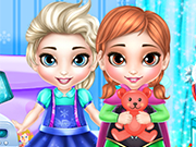 Play Frozen Sisters Washing Toys