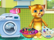 Play Ginger Washing Clothes