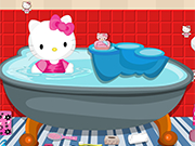 Play Hello Kitty Bathroom Cleanup