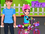 Play Little Girl First Bike