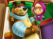 Play Masha And The Bear Injured