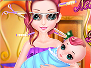Play Newborn Baby Mom Hair Salon