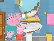 Play Peppa Pig cleaning bathroom