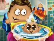 Play Pou Baby Wash