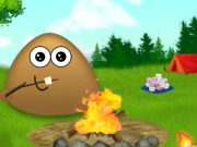 Play Pou Camp Fire