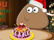 Play Pou Christmas Cake