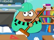 Play Pou Classroom Clean