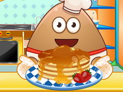 Play Pou Cooking Pancakes
