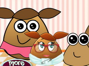 Play Pou Family At The Docto