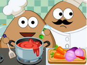 Play Pou Kitchen Slacking