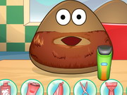 Play Pou Shaving