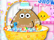 Play Pou Takes A Shower
