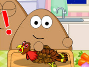 Play Pou Thanksgiving Day Slacking