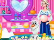 Play Pregnant Elsa And Olaf Bubble Bath