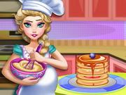 Play Pregnant Elsa Baking Pancakes
