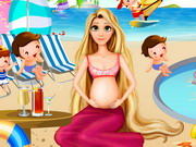 Play Pregnant Rapunzel Pool Party