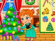 Play Princess Anna Christmas Slacking