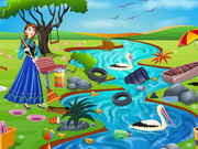 Play Princess Anna River Cleaning