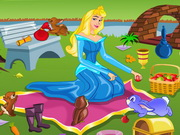 Play Princess Aurora Picnic Cleaning