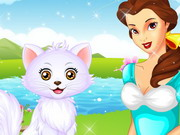 Play Princess Belle's Kitten Caring
