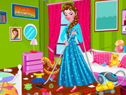Play Princess Elsa Bedroom Cleaning