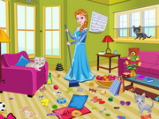 Play Princess Elsa Kitty Room Cleaning
