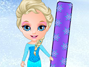 Play Princess Elsa Snowboarding
