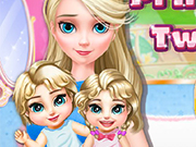 Play Princess Elsa Twins Care