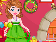 Play Princess Sofia Christmas Clean Up