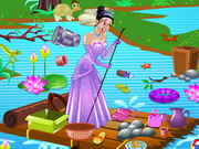 Play Princess Tiana Pond Cleaning