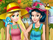 Play Princesses Working In Garden