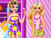 Play Rapunzel and Elsa PJ Party