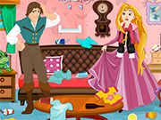 Play Rapunzel And Flynn Winter Clean Up