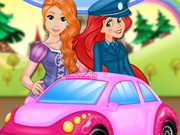Play Rapunzel Driving Test