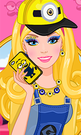 Play Barbie Minions Make-up