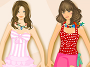Play Sunbathing with BFF Dress Up