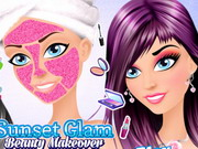 Play Sunset Glam Beauty Makeover