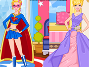Play Super Barbie and Princess Barbie