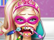 Play Super Barbie Dentist Care