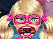 Play Super Barbie Sister Throat Doctor