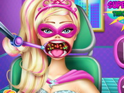 Play Super Barbie Throat Doctor